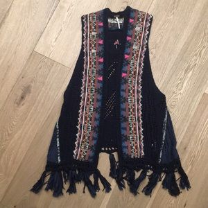 Free People Boho style vest
